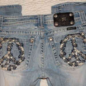 Miss Me Peace Bling Jeans Size 28